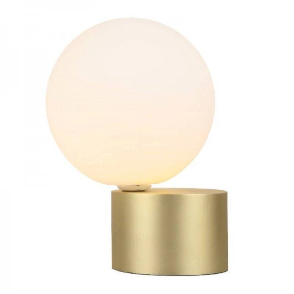 post modern creative LED table lamp simple glass lampshade for home decoration bedroom bedside desk lamp Kung LED table light