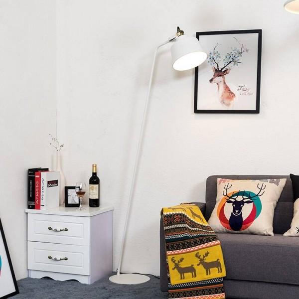 Post-modern Design Floor Lamp Black White Metal Stand Light Living Room Bedroom Reading Lamp adjustable E27 LED Bulb