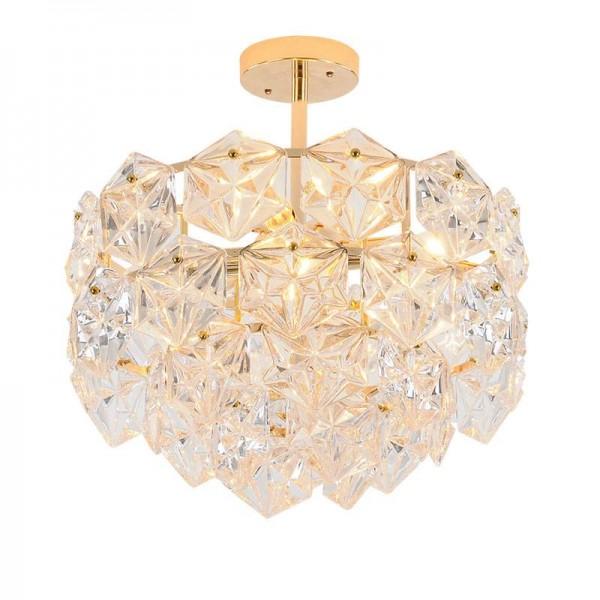 Post modern LED pendant light gold luxury K9 crystal pendant lamp living room hotel droplight Balcony hanging Hall Entrance