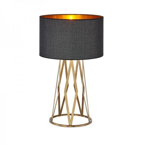 Post Modern Table Lamp luxury Reading Study Light gold Bedroom Light Lampshade Home Lighting Led nordic lamp table E27 bulb