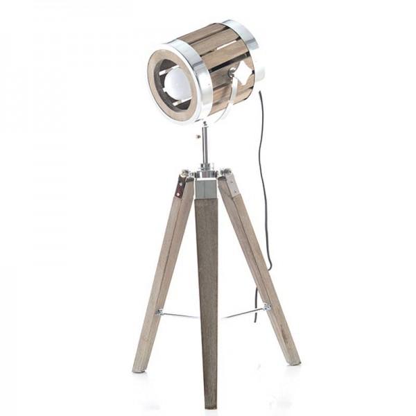 Post Modern wood art tripod base desk lamp metal lampshade table lamp metal body Creative reading light E27 bulb lgiht fixture
