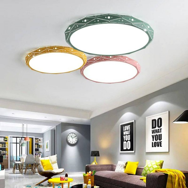 PostModern Ceiling Lights white black pink yellow green color Living Room Bedroom Surface Mount Remote Control lamparas de techo