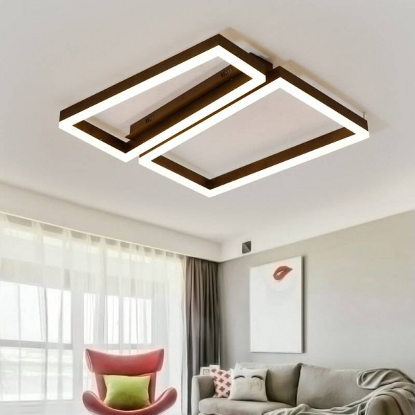 Remote control modern led ceiling lights for living room bedroom lamparas de techo dimming led ceiling lights lamp coffee