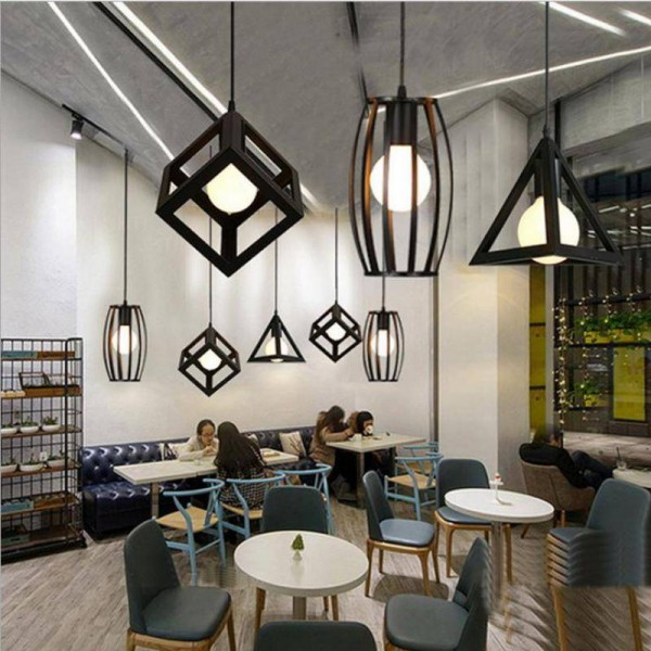 Bar iron pendant light indoor Industrial lighting for warehouse Bedroom Dining Room black vintage Restaurant hanging lamp