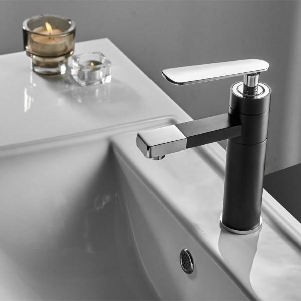 Basin Faucet Black/White Faucet Bathroom Sink Faucet Single Handle Hole Deck Vintage Wash Hot Cold Mixer Tap Crane B577