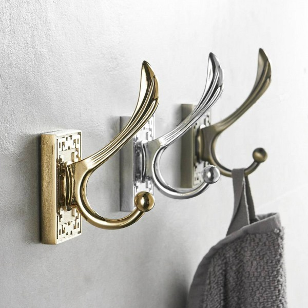 Robe Hooks Metal Towel Hanger Hooks For Clothes Coat Hat Bag Hooks Wall Mount Bathroom Accessories Door Towel Hook Holder 8016