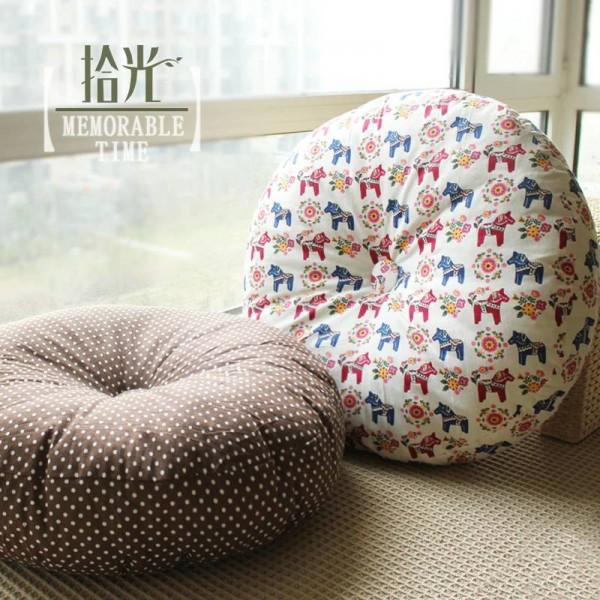Round floor cushion Material cotton thickening balcony tatami futon Cushion home restaurant club yoga Mat large seat cushion