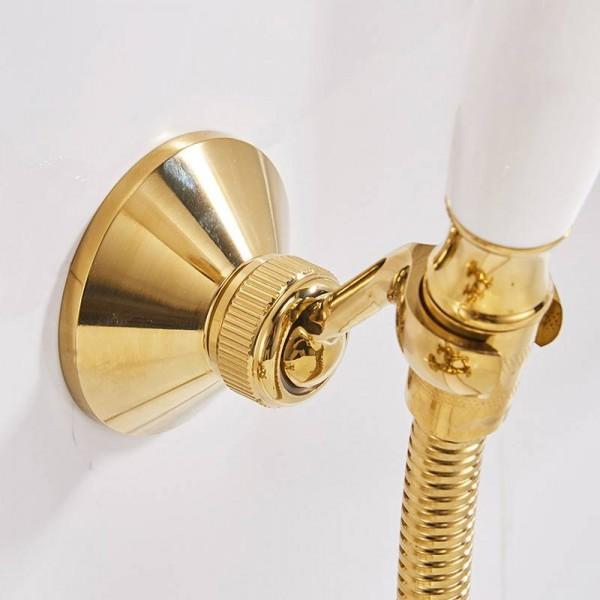 Shower Mounting Brackets Chrome Brass Swivel Handheld Shower Holder Shower Head Seat Rack Bathroom Parts Bath Accessories 0517L