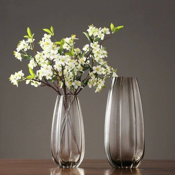 Simple American Aquatic Glass Flower Arrangement Vase Decoration Home Living Room Restaurant Countertop Floral Set
