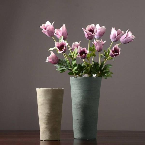Simple Ceramic Flower Vase European Creative Living Room Drying Device Nordic Home Decoration