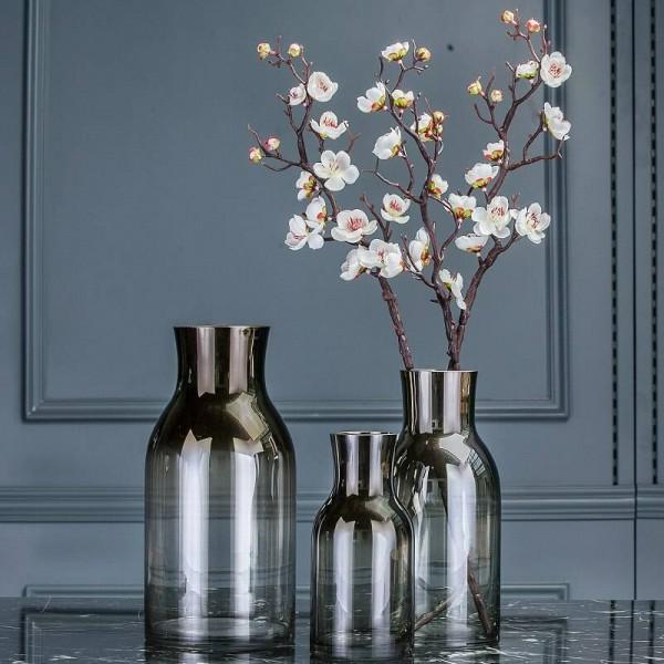 Simple Modern Transparent Glass Vase Living Room Desktop Flower Creative Home Soft Decoration Ornaments