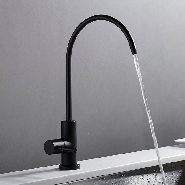 Single Cold Faucet Black 360 Swivel Kitchen Sink Swivel Tap Brass Basin Faucet
