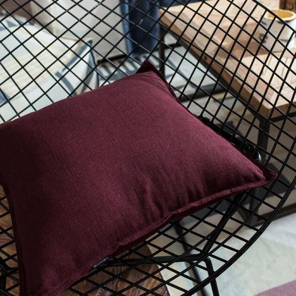 Solid Color Cushion Cover Decorative Pillowcases Cotton Linen Square Car Cover Seat Sofa Throw Pillow Cover housse de coussin