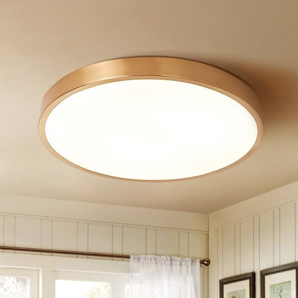 study room round Led ceiling lamp light All-copper round Ceiling Lamp Living Room Bedroom Lamp Corridor Modern reading Lamps