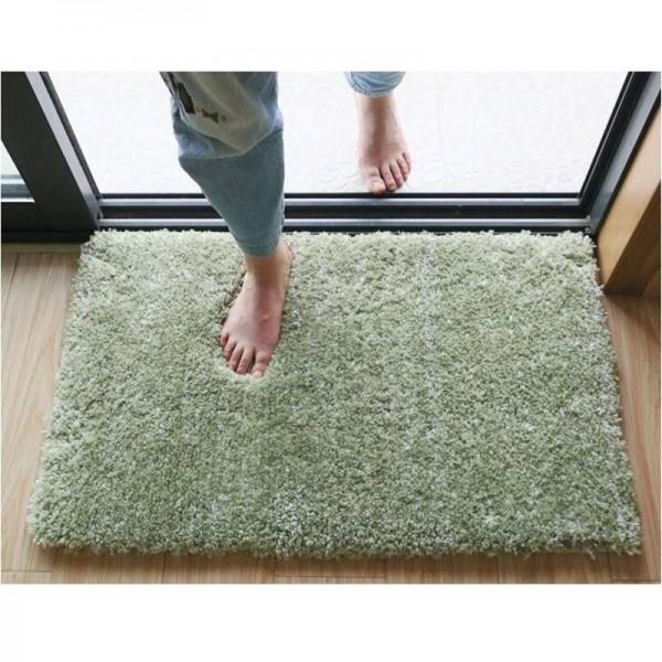 Tender Green Floor Carpet For Bedroom Solid Bathroom Carpet Anti-Slip Mat For Toilet Water Absorbent Doormat Super Soft alfombra