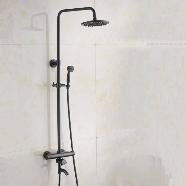Thermostatic Black thermostatic shower set shower faucet hot and cold Shower faucet Bathtub thermostatic shower mixer