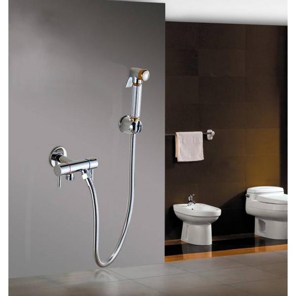 Toilet Bidet Angle Copper Single Cold Bathroom Toilet Shower Blow-fed Spray Gun Nozzle Bidet Faucet Bathroom Hardware 8075