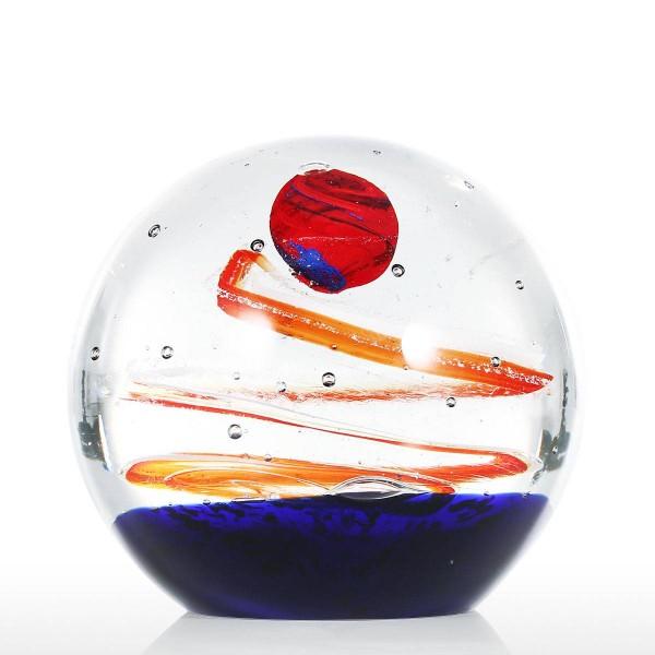10CM Diameter Glass Star Ball Glass Sculpture Hand Blown Art Glass Table Top Sculpture Paperweight Home Decoration Gifts