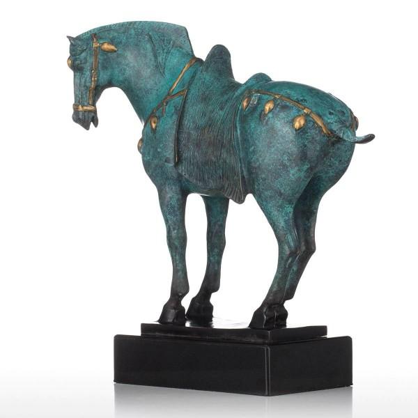 Horse Bronze Figurine Elegant Modeling Characteristics Animal Horse Figurine Gift For Home Decoration