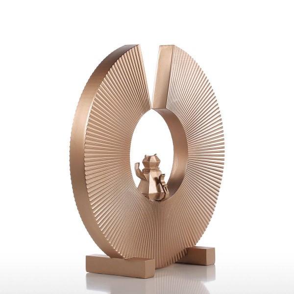 Fortune Cat Resin Sculpture Modern Art Home Decor Statue Figurine Ornament For Home Office