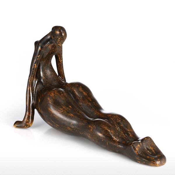 Plump Woman Yoga Figurine Resin Miniature Figurine Home Decoration Accessories Yoga Craft Gift For Home