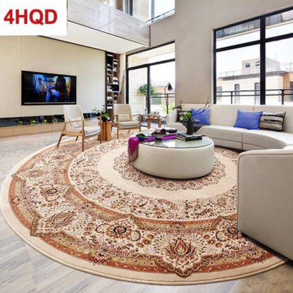 Turkey Imported Round Carpet Parlor Coffee Table Basket Computer Chair Piano Bedroom Study Europe and America Persian Round Blan