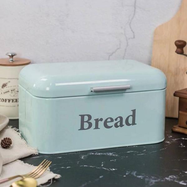 Vintage Bread Box Cupboard Iron Snack Box Desktop Finishing Dust-proof Storage Box Storage Bin Keeper Food Kitchen Shelf Decor
