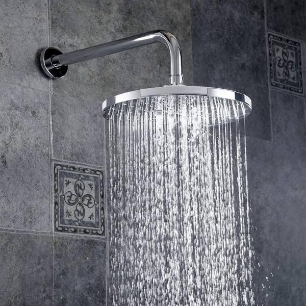 Wall Bathroom Shower Faucet Set Chrome Rainfall Bathtub Shower Faucet Set Waterfall Shower Head Single Handle Mixer Tap FS-1354