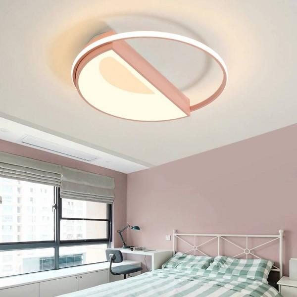 White/Pink/Blue Modern LED chandelier for living room bedroom dining room aluminum body Dimming home lighting luminarias dero