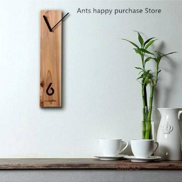 Wood clock Creative wooden clock Log clock Silent design Living room wall clock Office meeting table