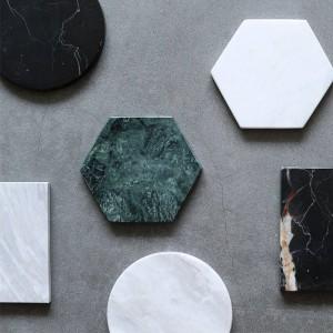 Minimalist Marble Storage Tray Chic Scandinavian Nordic Desk Round Jewelry Storage Plate Hexagon Coaster Organizer Home Decor