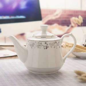 1000ml/1600ml Modern Filter Pot Ceramic Porcelain Handle Pots Teapot / Home Drinkware Large Capacity Juice Water Coffee Kettle