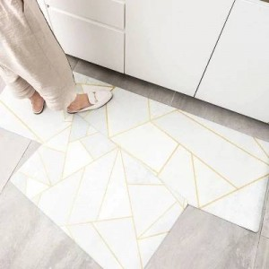 10 design Kitchen floor mats oil-proof waterproof long strip non-slip foot mats ins metal wind mat home strip carpet for bedroom