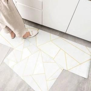 10 design Kitchen floor mats oil-proof waterproof long strip non-slip foot mats ins metal wind mat home strip carpet for bedroom
