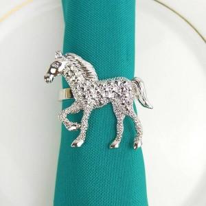 10pcs/lot Rose Gold Pearl Christmas Deer Napkin Ring Metal Napkin Buckle Cloth Napkin Ring Napkin Ring