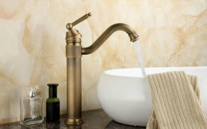 "13"" Antique Brass faucets Swivel Kitchen sink Bathroom Basin Faucet mixer Tap 9883A"