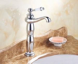 """13"""" Chrome Faucets Bathroom Sink Basin Brass Faucet Porcelain Mixer Tap 9032CP"""