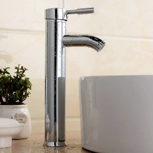 """13"""" high round Bathroom sink basin mixer tap chrome polished spray brass Faucet BF011"""