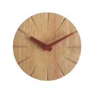 15cm Creative solid wood wall clock living room personality simple modern clock DIY ultra quiet bedroom small wall clock
