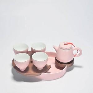 180ml Brief Pink Ceramic Porcelain Teapot Office Kung Tea Set Puer Tieguanyin Tea Kettles Handmade Drinkware Sent Friend Gifts