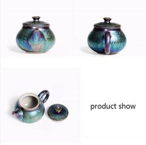 200ml Creative Glaze Colorful Ceramic Teapot Art Xishi Pot Decoration Kettle Pots Drinkware Teaware Crafts Collection Boutique