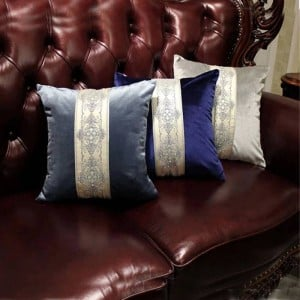 Recommend Top Luxury Jacquard Embroidery Throw Pillowcases Imported Velvet Cushion Cover Sofa Home Decor fundas de cojines