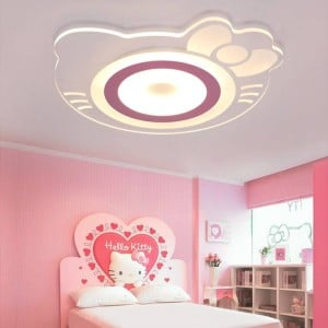 2019 Luminaire Abajur Children's Room Ceiling Mount Remote Control Or Commutator With For Hellokitty Acrylic Boby Lights In The
