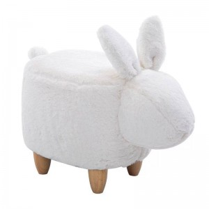 35% Off Sale! Pouf Chair Lint Sofa Shoe Stool Ottoman Bean Bag Kid Toys Storage Footstool Solid Wood Nordic Home Deco Furniture