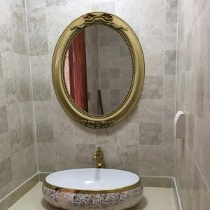 40cmx49cm European Antique Bathroom Mirror Decoration Wall Toilet Mirror Wash basin bath wall decorative mirror for living room