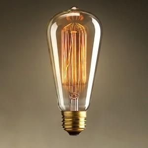 40W E26 Vintage Edison Bulb Classic Design Single Incandescent Light in Brass Finish