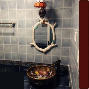 46cmx62cm European Garden Mirror American Country Decorative Wall decorative Mirror for bathroom