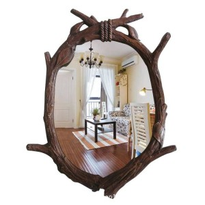 46cmx62cm European Garden Bathroom Mirror Tree Hanging Mirror Decorative Bathroom wall decorative mirror