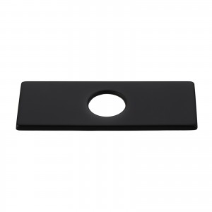 4 Inches Stainless Steel Square Escutcheon Plate Bathroom Vanity Sink Faucet Hole Cover Deck Plate Matte Black