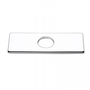 4 Inches Stainless Steel Square Escutcheon Plate Bathroom Vanity Sink Faucet Hole Cover Deck Plate Polished Chrome